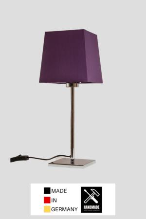 Matrix – Tischlampe Chrom glänzend mit Schirm lila