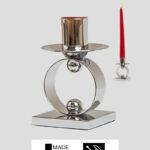 Kerzenständer – Chrom massiv 32cm