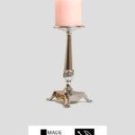 Kerzenständer – Messing massiv / Chrom glänzend