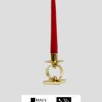 Kerzenständer – Messing massiv 32cm