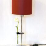 Madeira – Tischlampe groß Chrom – mit Reagenzglashalter
