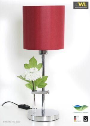 Fleur – Tischlampe in Chrom groß